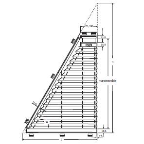 Formes spéciales Store Plissé Triangle
