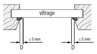 Store plissé collé sur le carreau joint inférieur à 5 mm