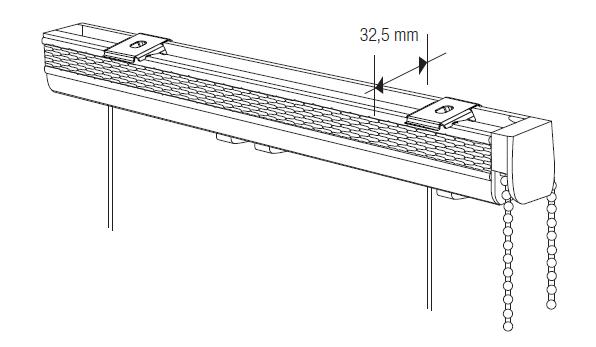 Store americain mécanisme chaînette