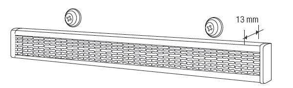 Store americain mécanisme rail velcro