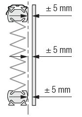Store pilssé suspension libre écartement du vitrage