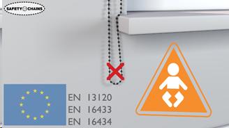 Sécurisation des chainettes et cordons de stores Normes européennes