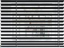 Vision avec un store vénitien de 35 mm