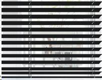 Vision avec un store vénitien de 50 mm