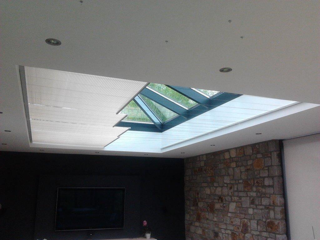 Store plissé veranda électrique